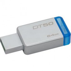 KINGSTON 64GB -USB 3.0 DATATRAVE 50 METAL-AZUL