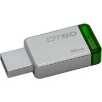 KINGSTON 16GB - USB 3.0 DATATRAVELER 50 METAL-VERDE