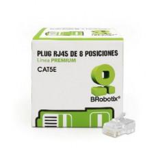 BROBOTIX 497103 PLUG RJ45 CAT5E, 8 POSICIONES, CAJA CON 50 PI
