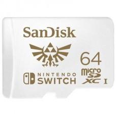 SANDISK UHS-I C10 Memoria Micro SDXC 64GB PARA NINTENDO SWITCH